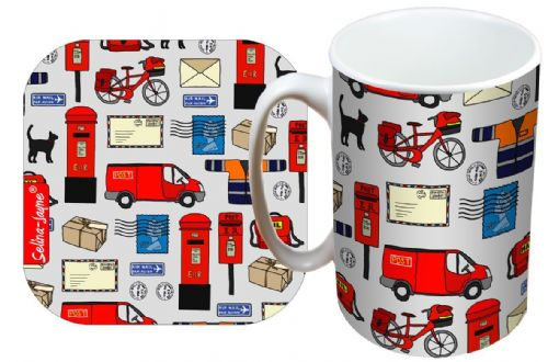 Selina-Jayne Postman Limited Edition Designer Mug and Coaster Gift Set